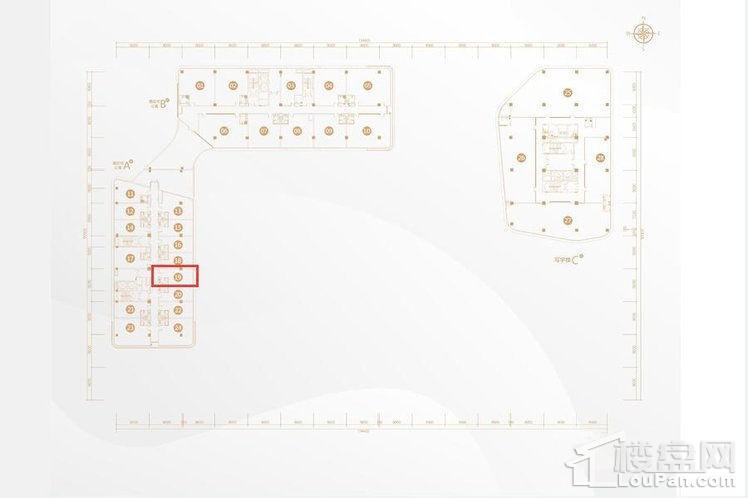 公寓6-12、写字楼6-11层19号户型