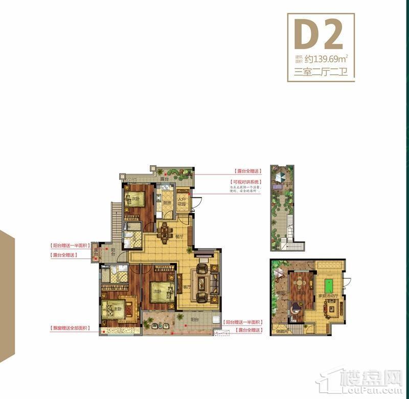 电梯洋房D2户型