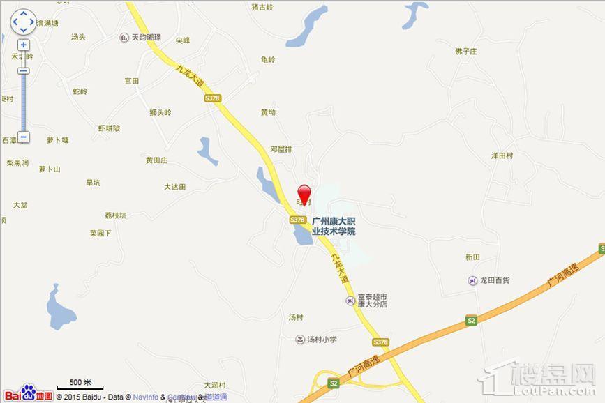 广州绿地城位置图