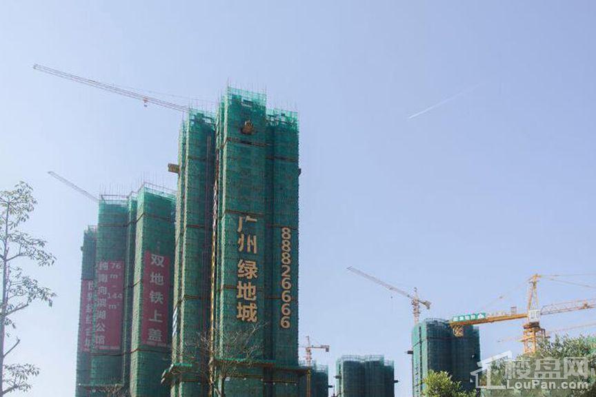 广州绿地城实景图