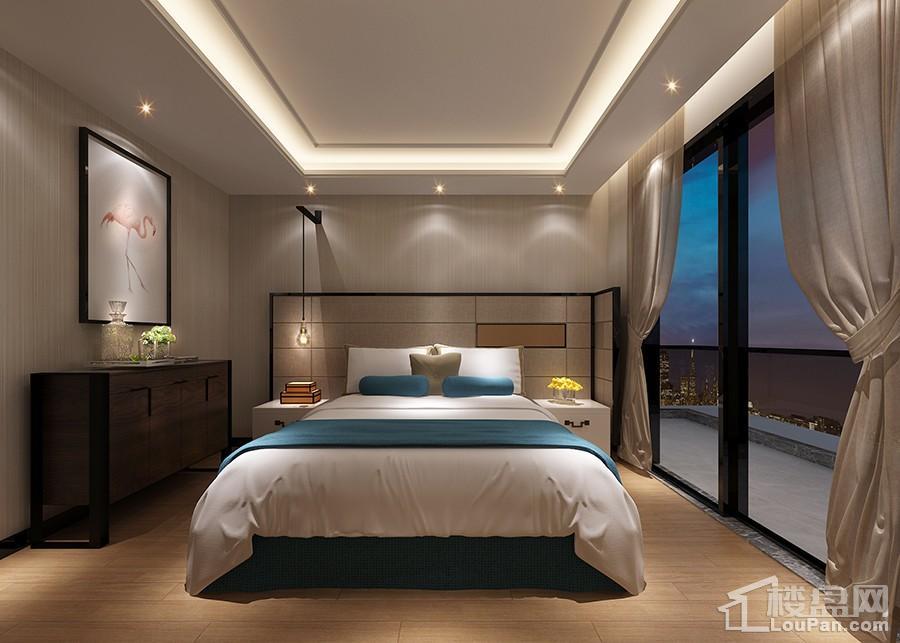 新希望锦官城样板间卧室装修效果图