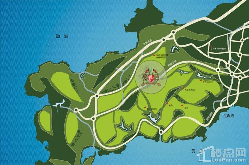 碧桂园海昌红旗谷位置图