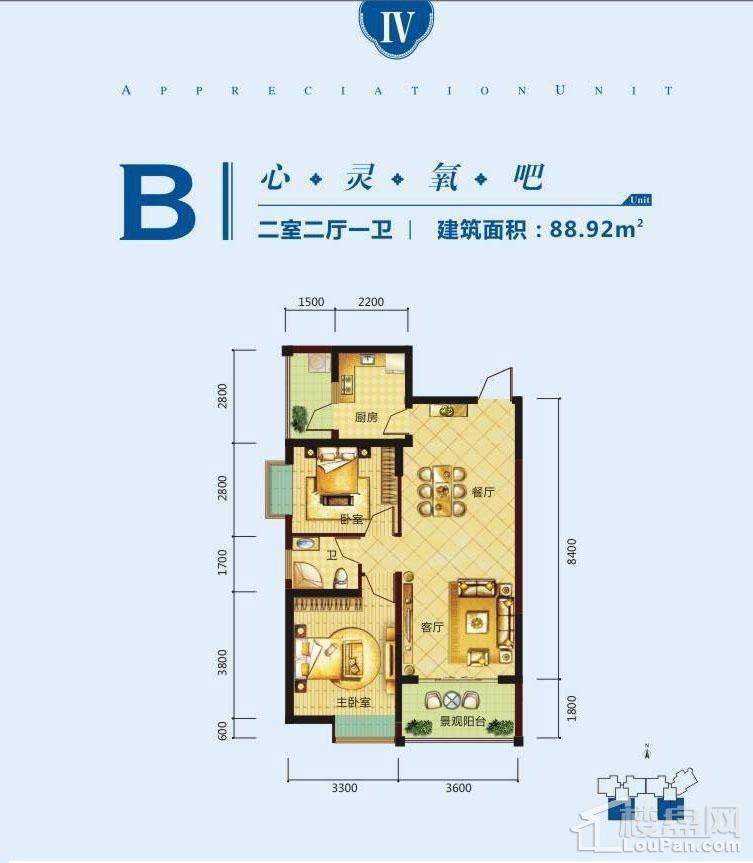 1号楼B户型