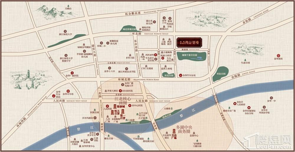 金地碧桂园浅山艺境位置图