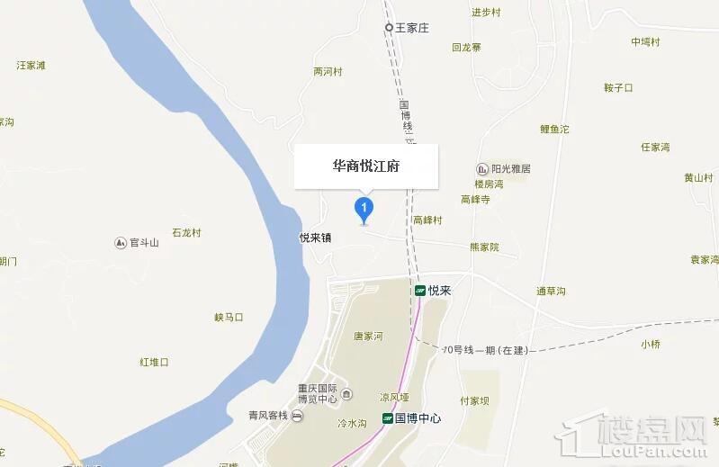 华商悦江府位置图
