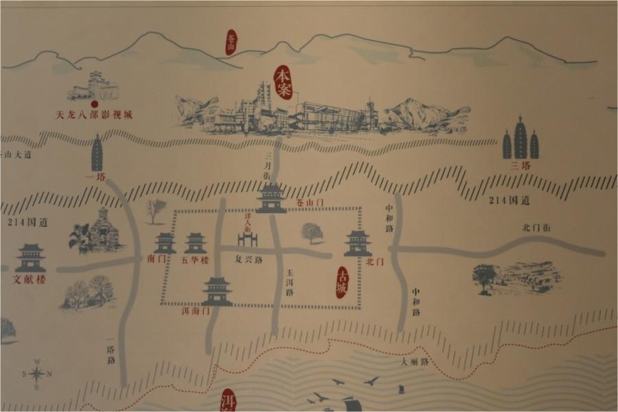 大理的小院子-北区位置图