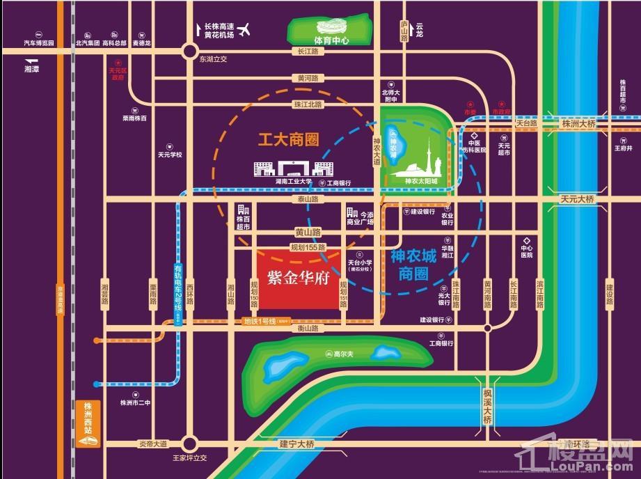 紫金华府位置图