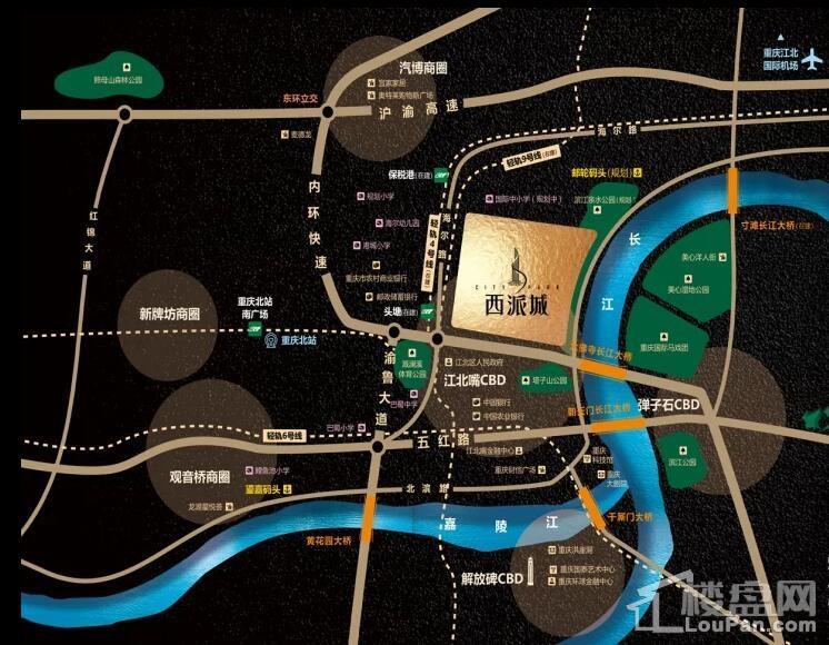 中国铁建·西派城位置图