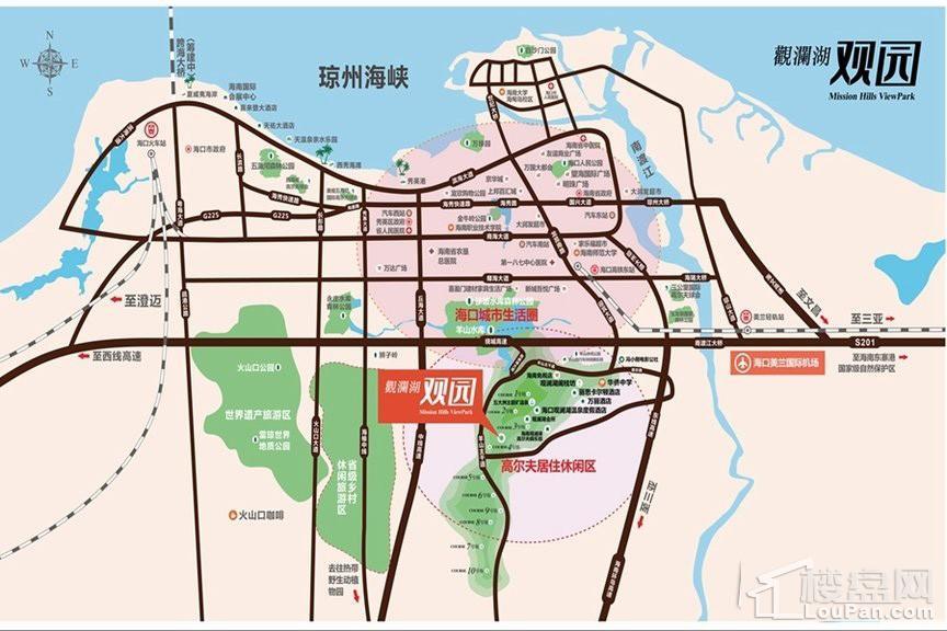 观澜湖观园位置图