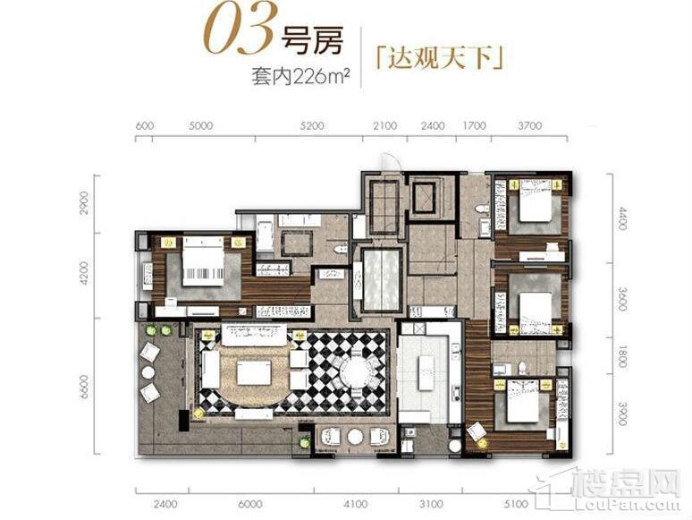 1期12#/13#楼标准层03号房户型