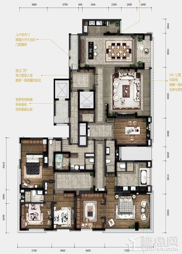 1期12#/13#楼标准层378户型