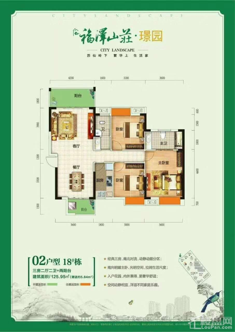 福泽山庄18栋02户型