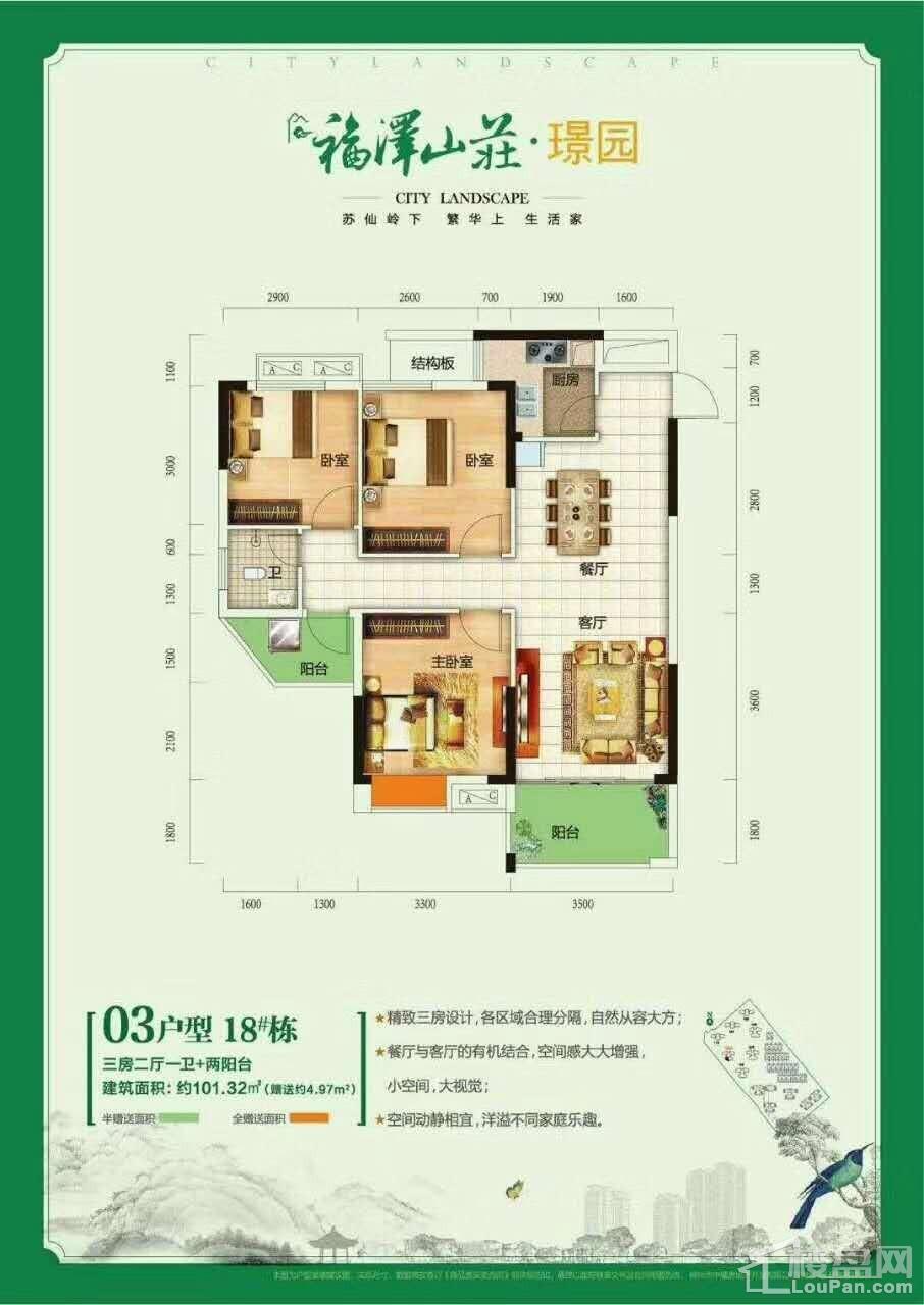 福泽山庄18栋03户型