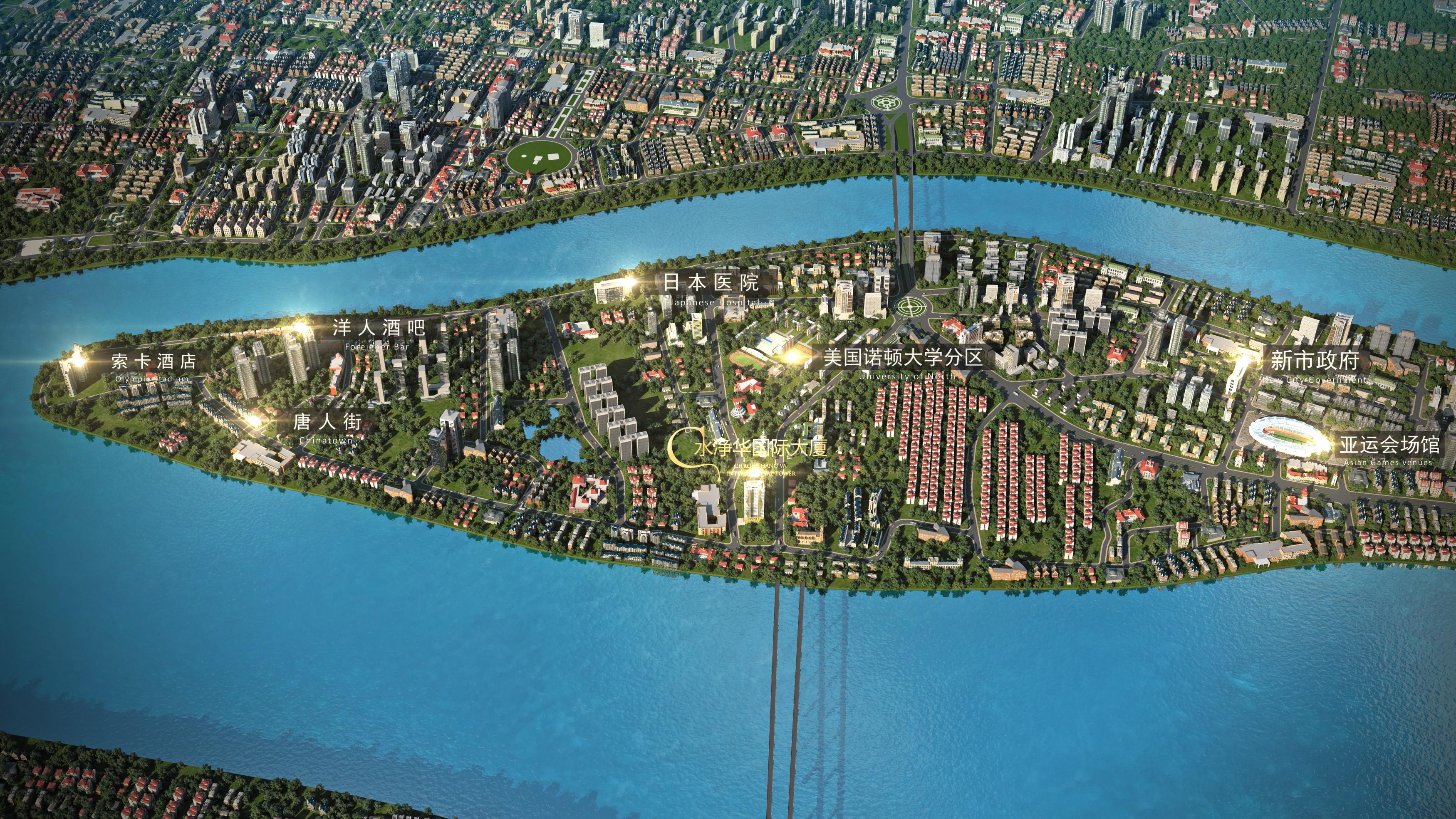 水净华国际大厦效果图