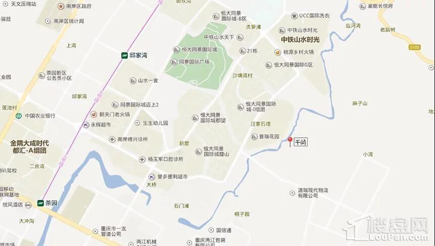 碧桂园·东原·合能 千屿位置图