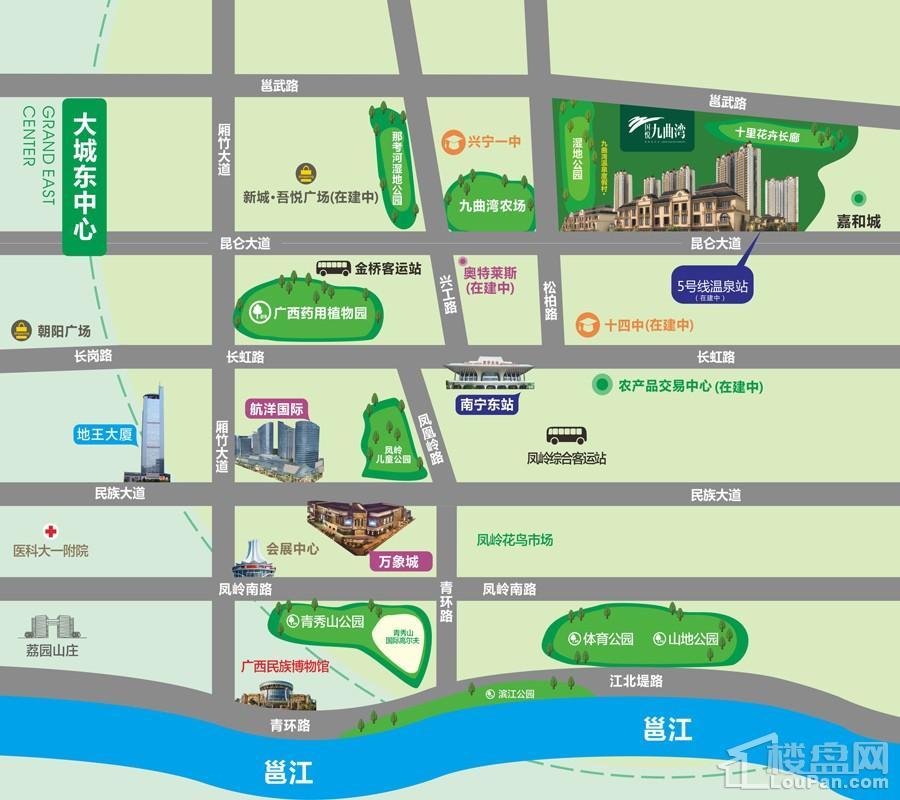 国悦九曲湾区位交通图