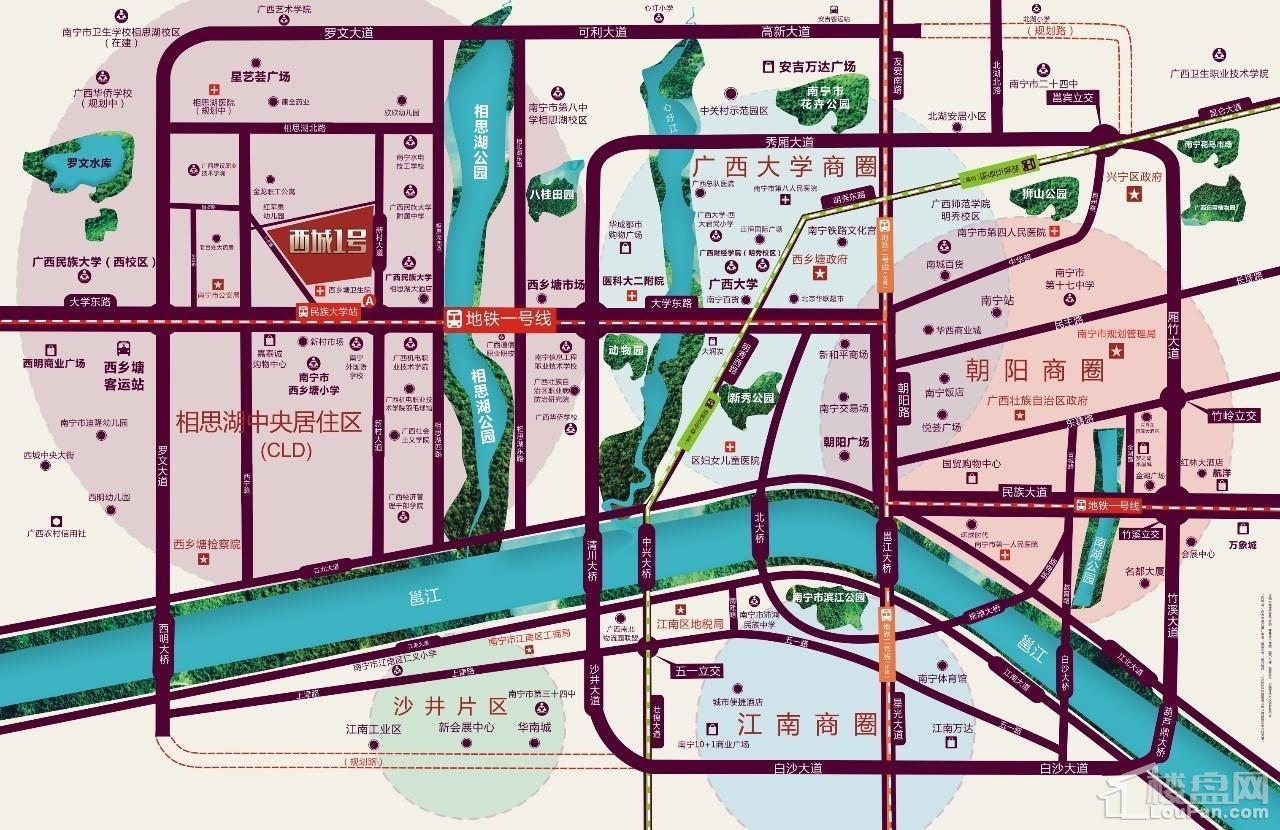 西城1号区位图