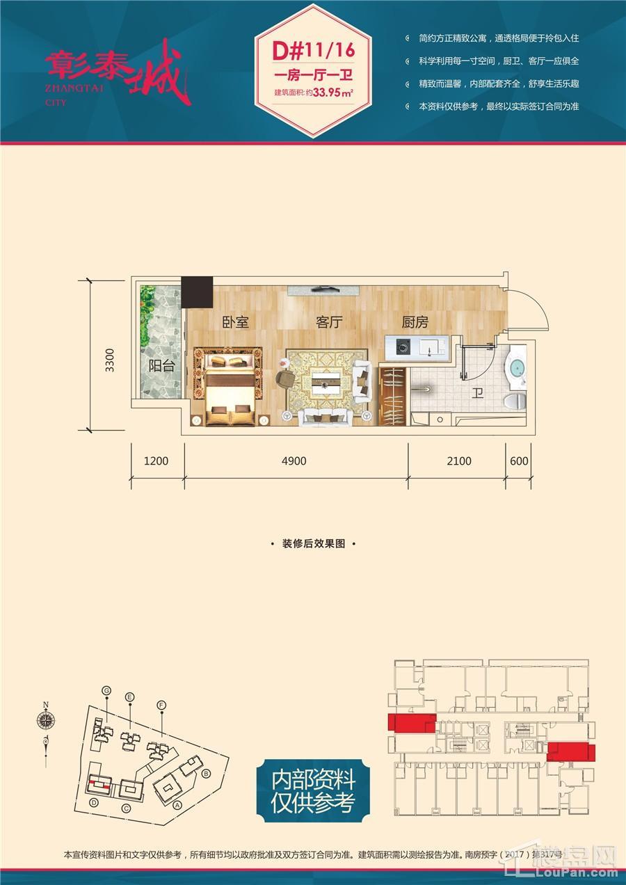 彰泰城D#楼10户型