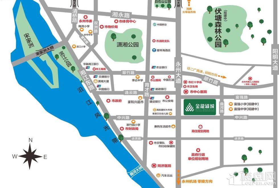 金龙绿城位置图