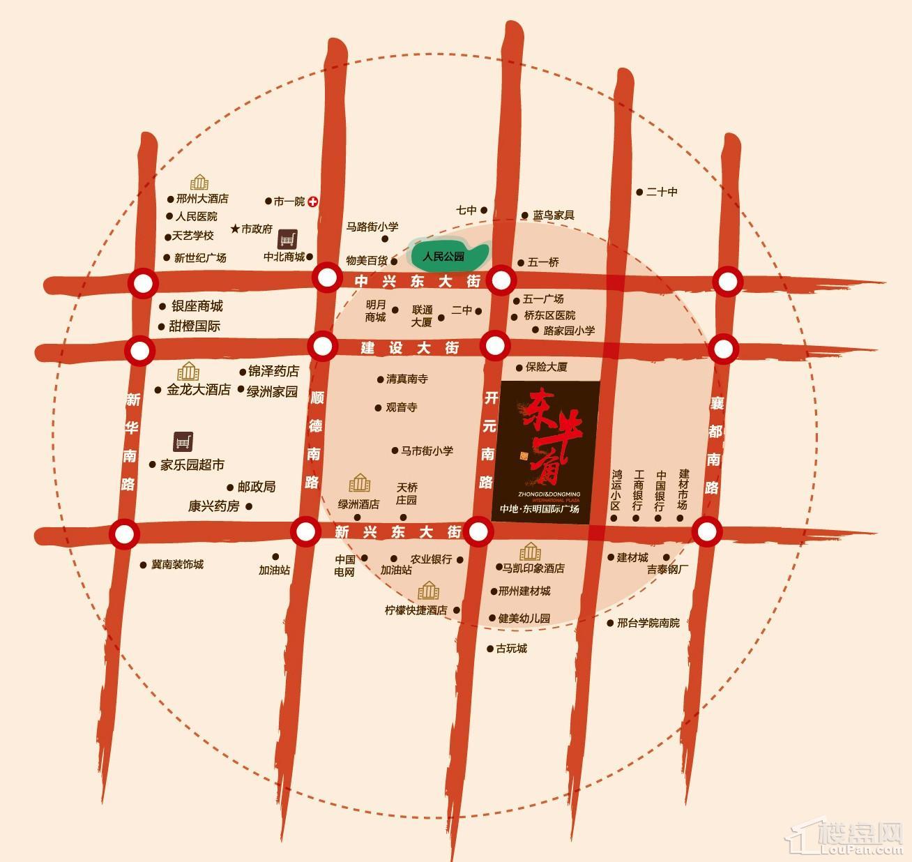 中地御蓝庭位置图