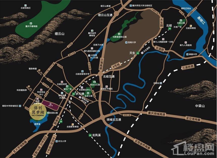保利茵梦湖位置图