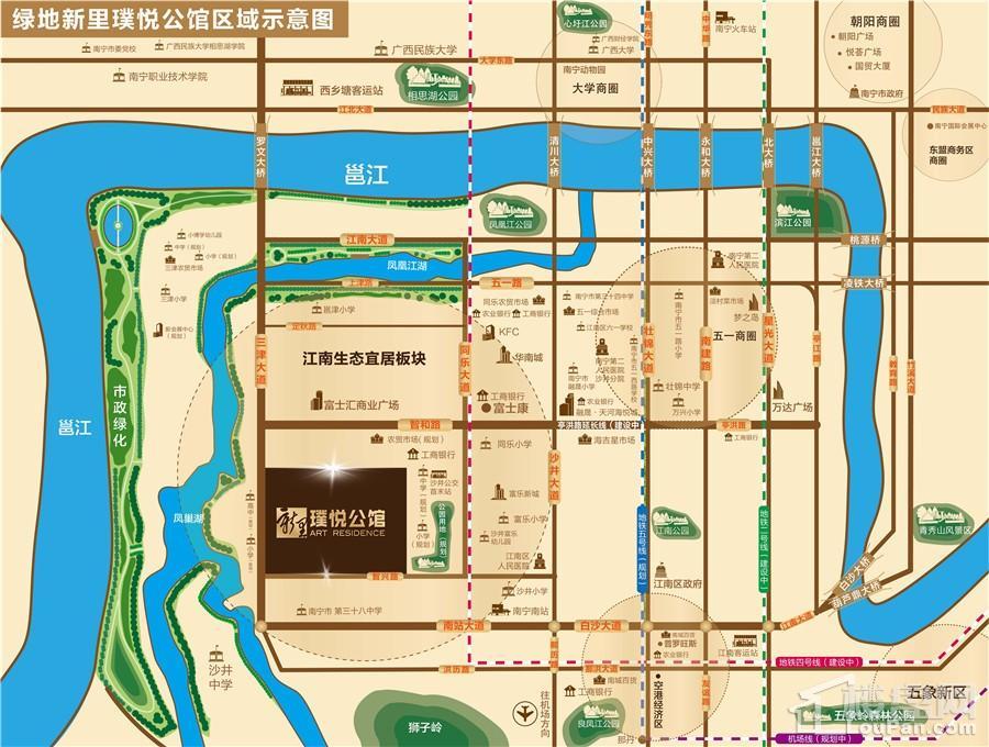 绿地新里璞悦公馆区位图