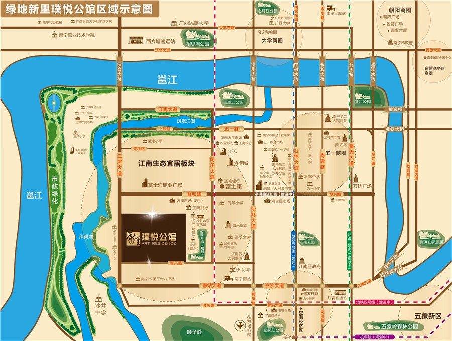 绿地新里璞悦公馆位置图