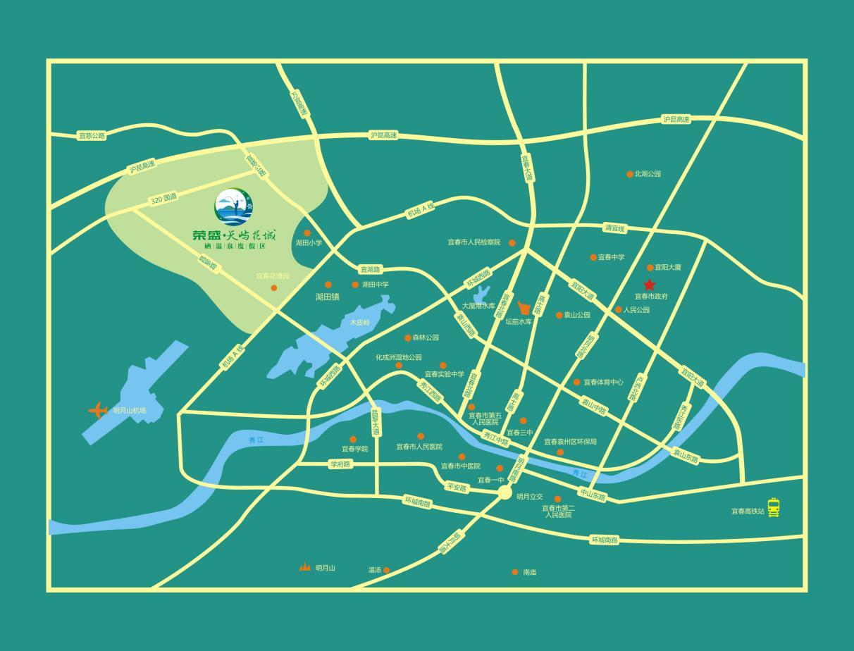 荣盛康旅·宜春硒温泉国际度假区位置图