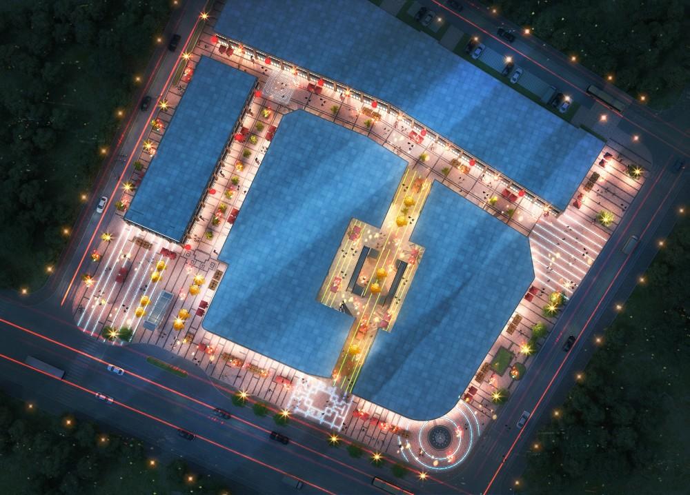 天门·中央广场效果图
