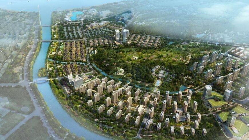 五渚河生态城效果图