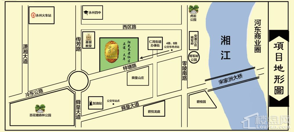 永州正道·天年阳光社区位置图