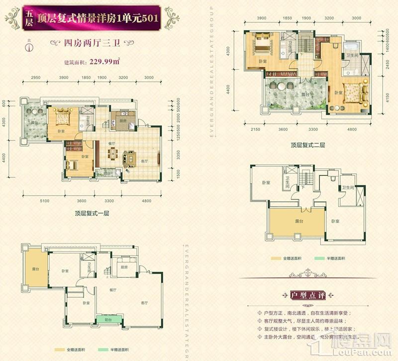 五层顶层复式情景洋房1单元501