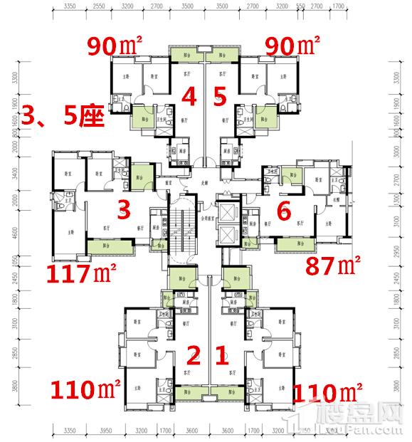 3、5座户型图