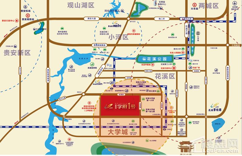 碧桂园·学府1号位置图