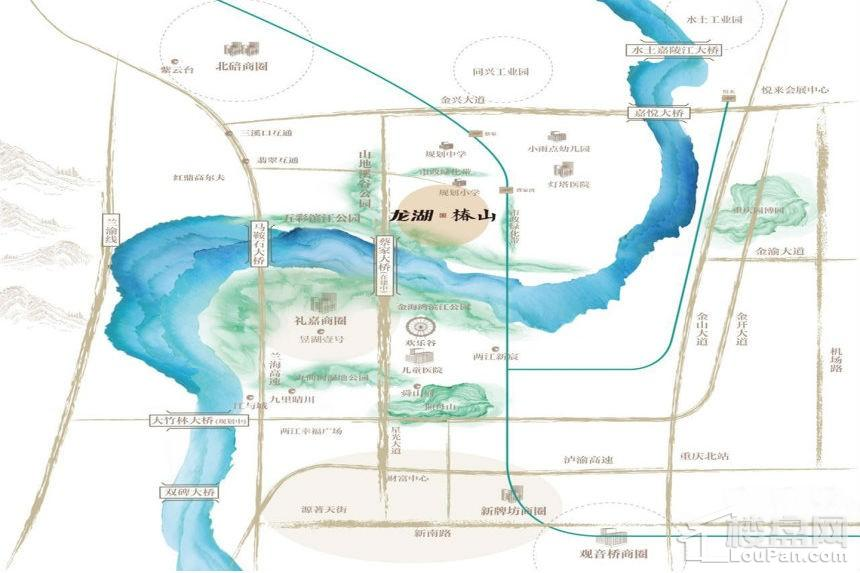 龙湖椿山位置图
