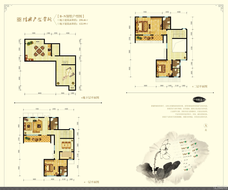 联排别墅户型图