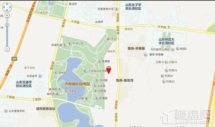 山东高速绿城·蘭園位置图