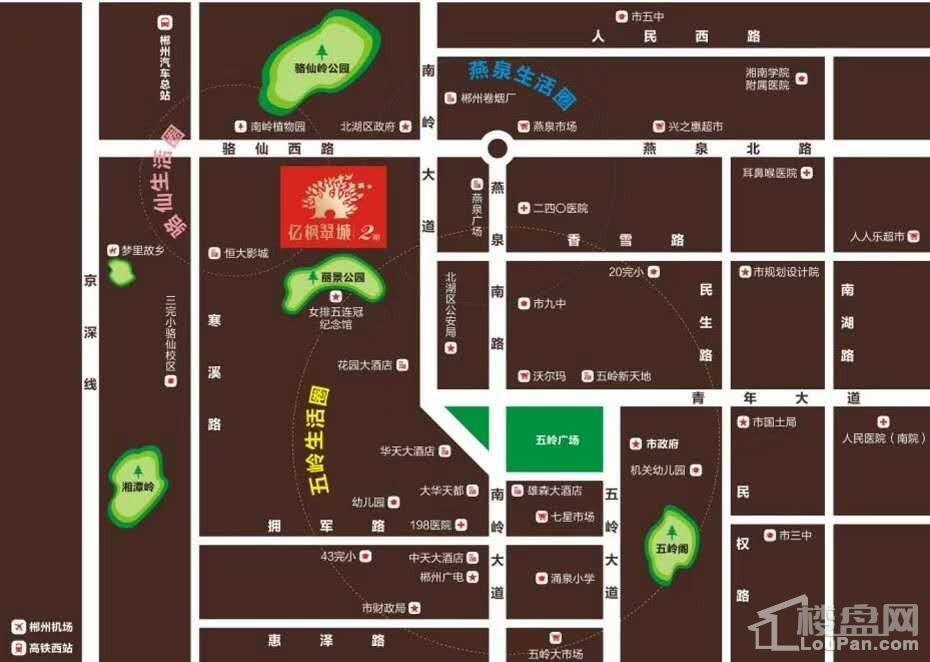 亿枫翠城区位交通图