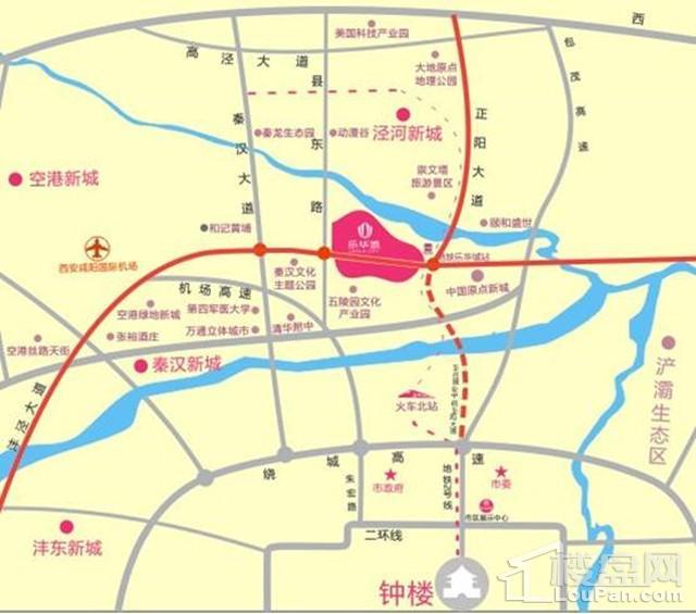 乐华城·罗马假日公寓位置图