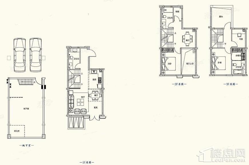 B1户型图 - 别墅179平