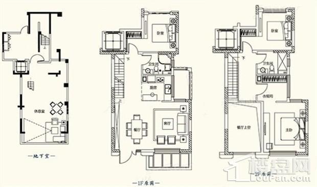 D1户型图 - 叠墅189平