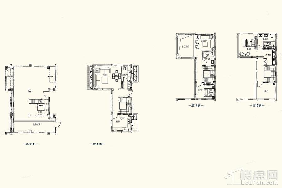 A1-1户型图 - 别墅261平