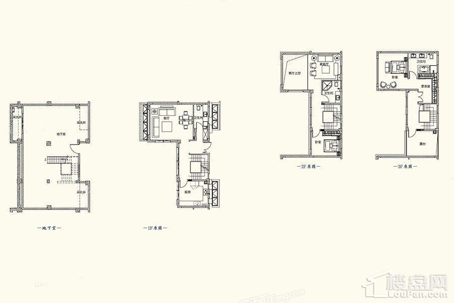 A1户型图 - 别墅279平