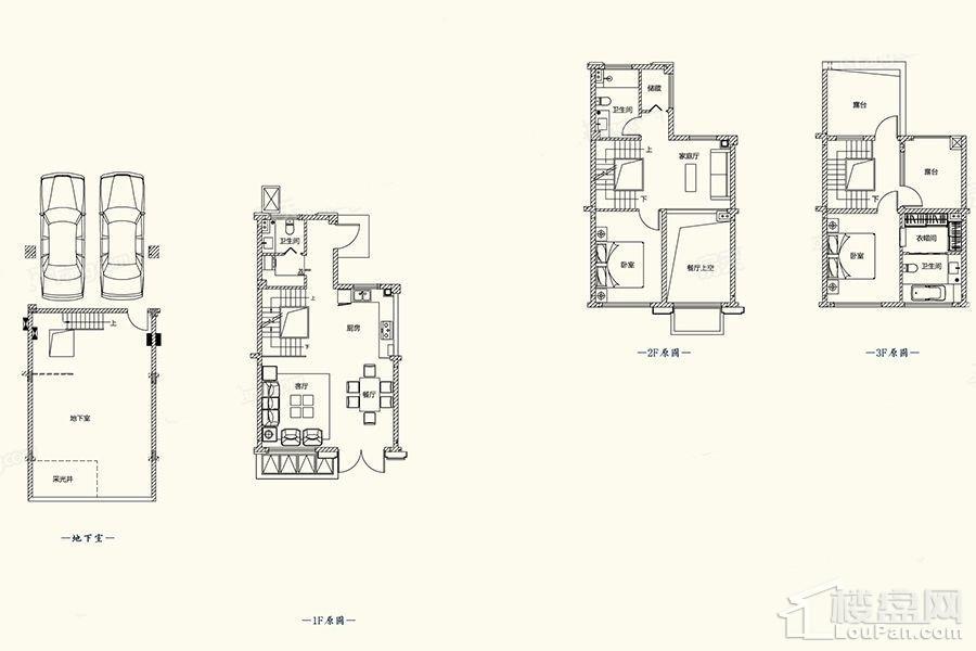B3-1户型图 - 别墅201平