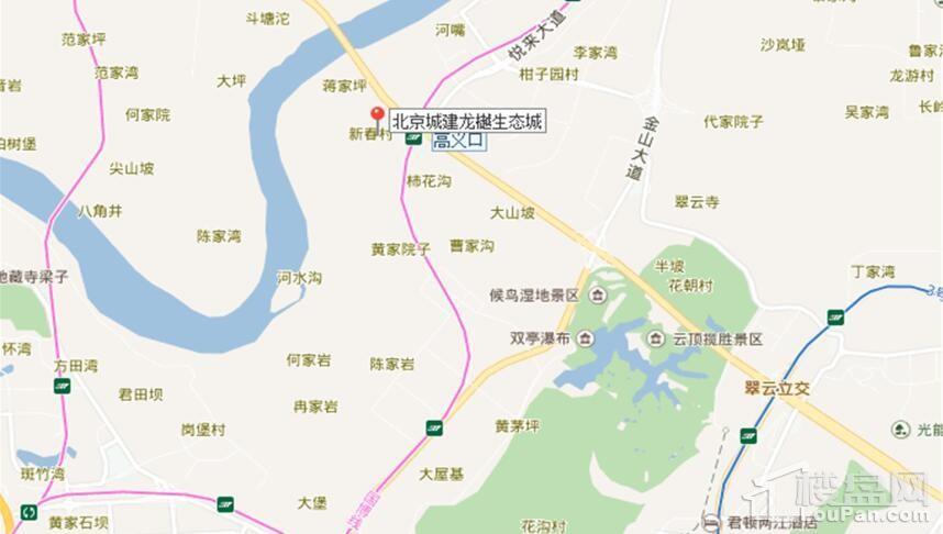 北京城建龙樾生态城位置图