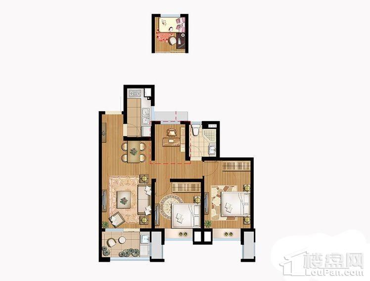 B3户型 - 3号楼高层中间户标准层