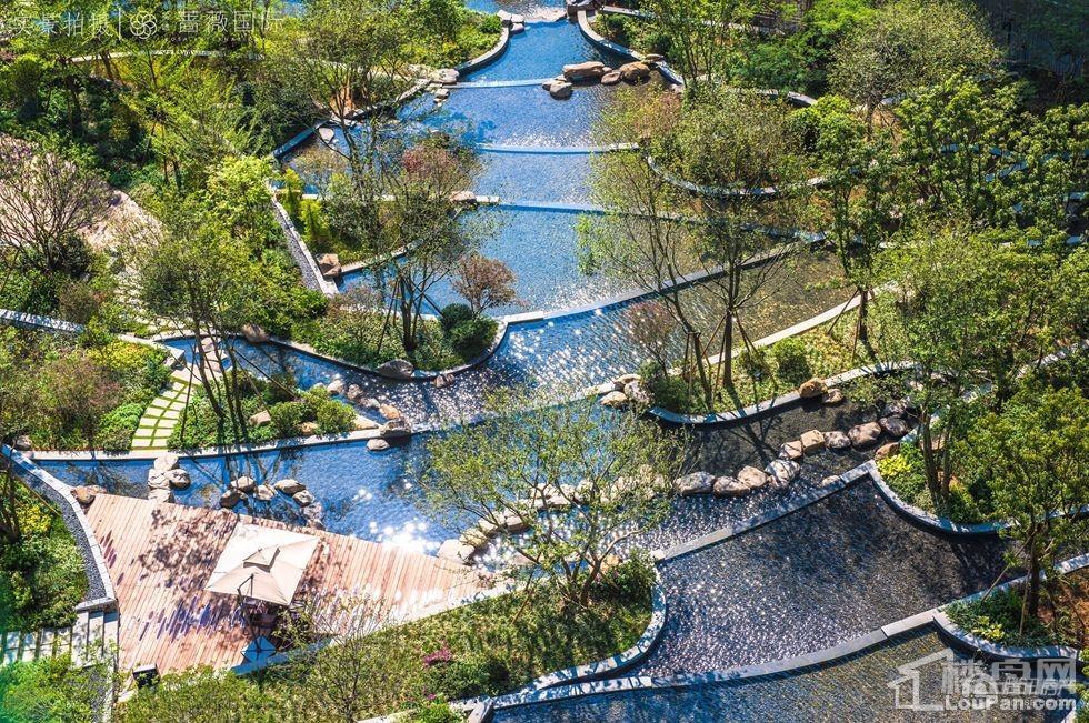实地蔷薇国际叠水景观设计