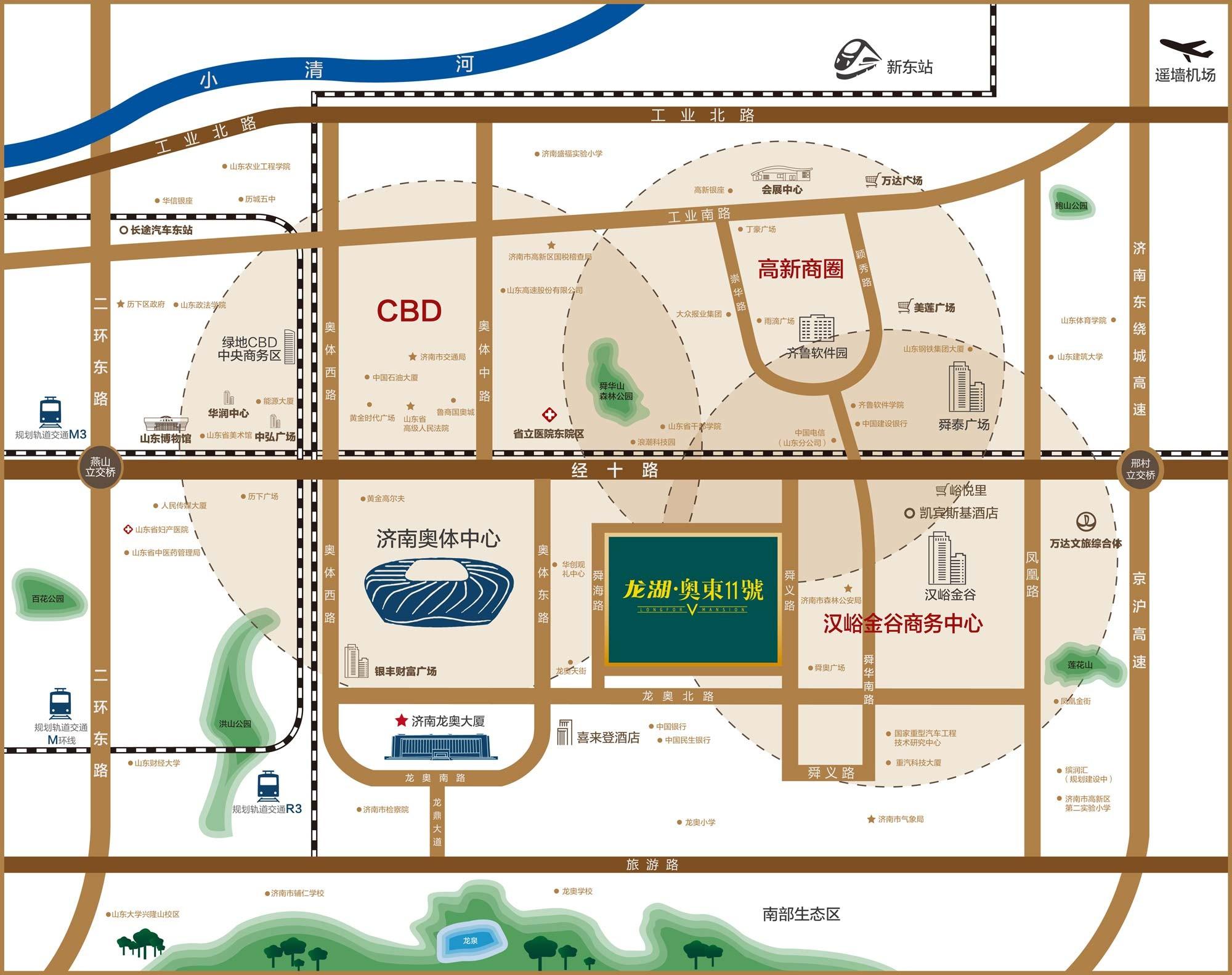 龙湖·奥东11号位置图