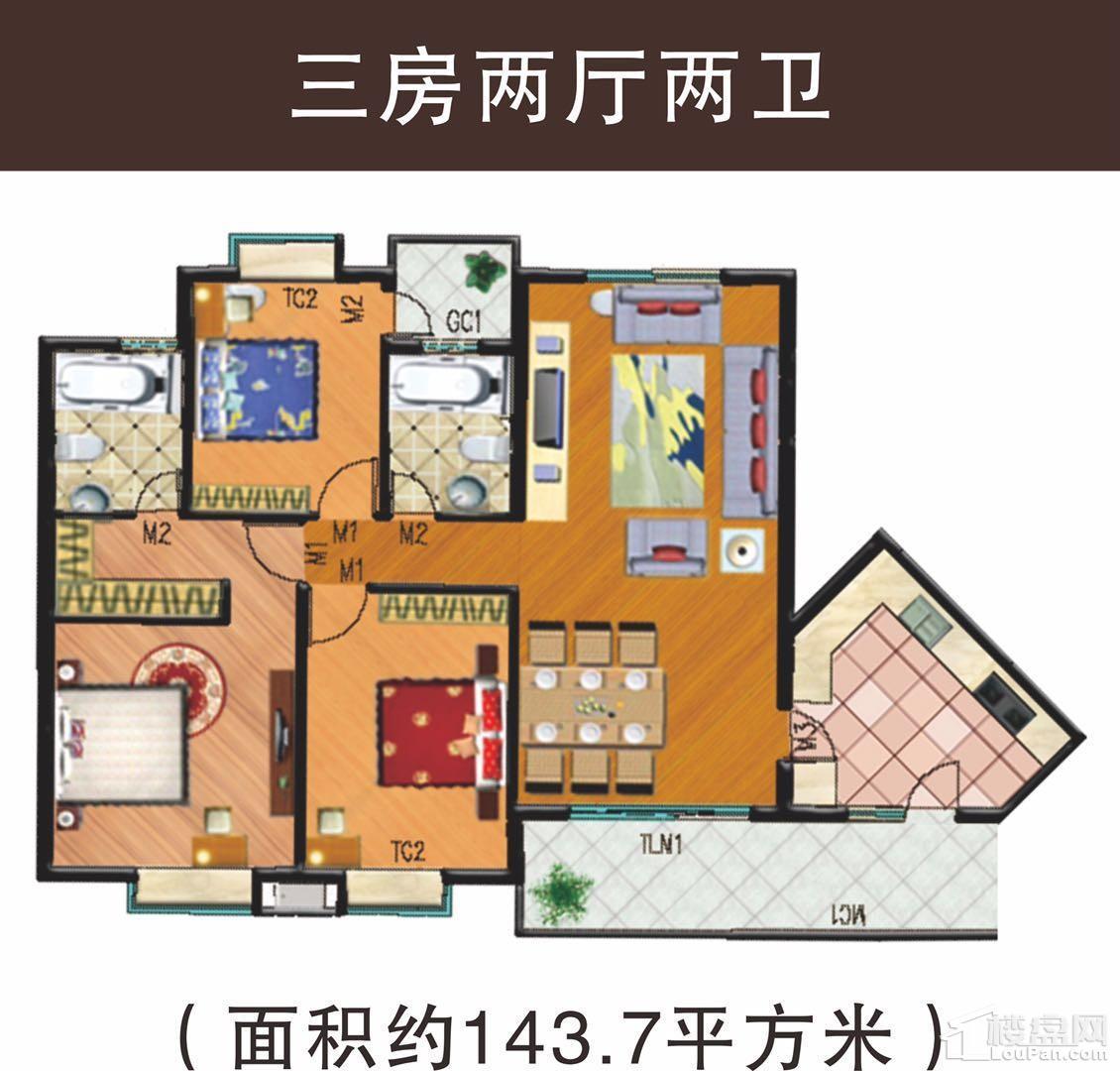 东山花城3房户型