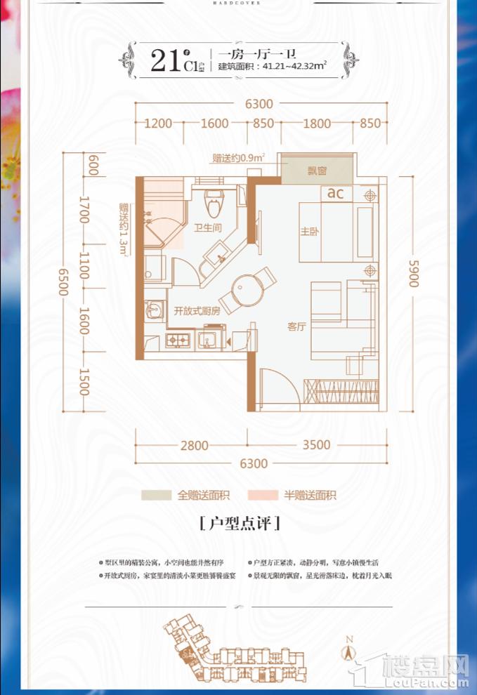 奇寓21#楼C1户型